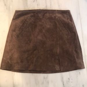 BLANKNYC 100% Leather Suede Mini Skirt Size 25